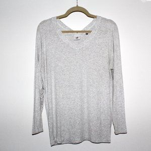 Cabi Long Sleeve Double V-Neck Top